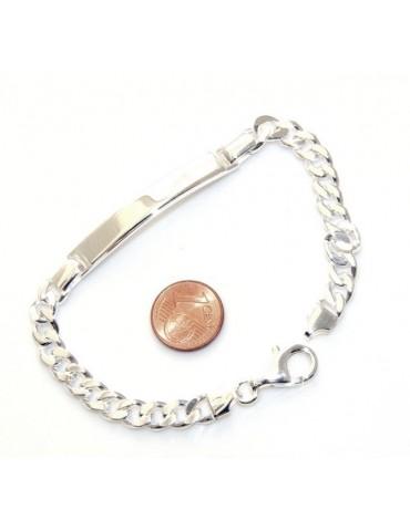 Fine Silver Bracelet For Man Gourmette Link