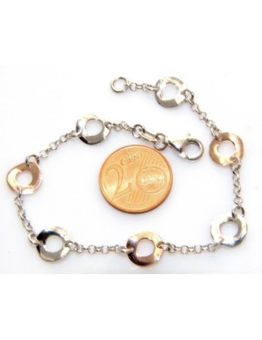 SILVER 925 :  bracelet for woman, wheels , two colors