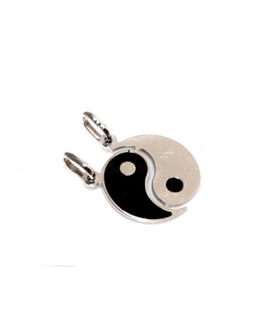 fine silver, pendant yin and yang