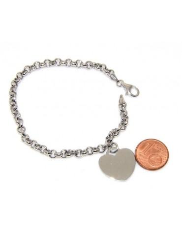 Argento 925 : bracciale rolo' uomo o donna con 1 simbolo dell'infinito da 16,00 a 20,50 cm