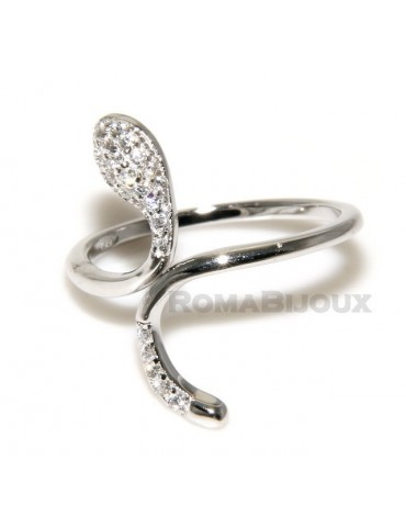 Silver 925 &  Rhodium: ring for woman.snake