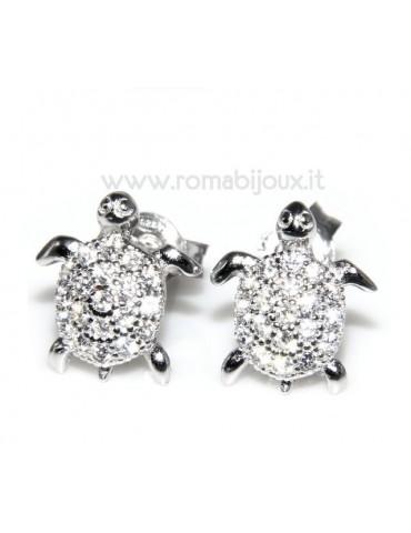silver woman earrings turtles