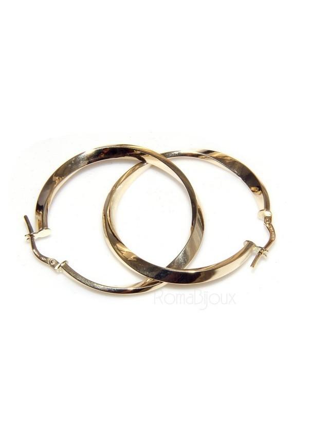 disponibilità nel Regno Unito varietà larghe grande sconto orecchini a cerchio 35 mm in oro 9kt 375