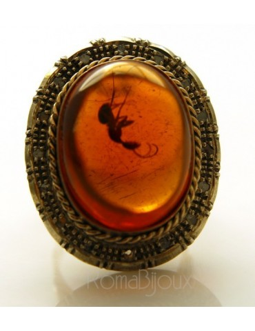 9 kt yellow gold and 925 sterling silver antique: Ring woman baroque handmade cameo oval and root ruby mis 16/17