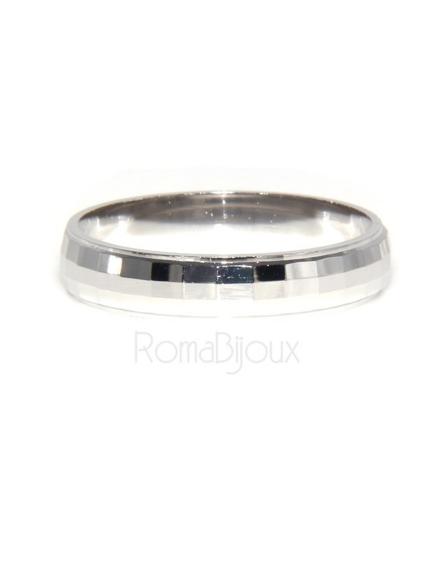 925: Ring faith record diamond massive 6 mm oblique and horizontal all measures