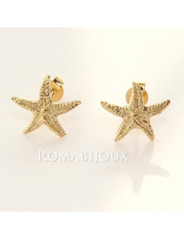 starfish earrings 925 silver yellow gold bath