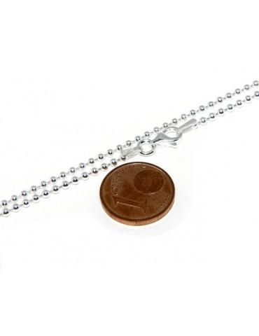 SILVER 925: Choker necklace balls dots balls 1.8mm various lengths clear pattern, no rhodium