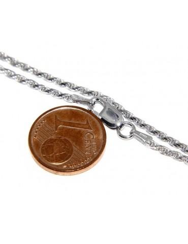ARGENTO 925 : Girocollo collana rope chain cavetto 1,50 mm