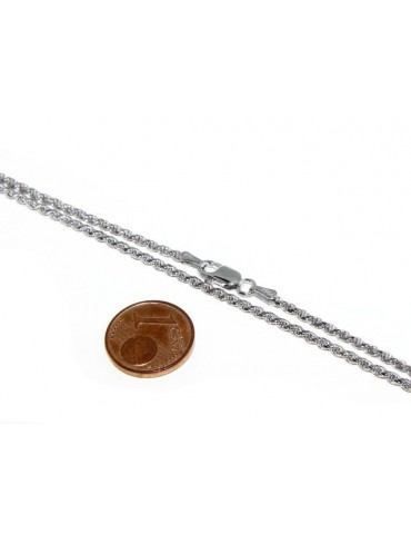 SILVER 925: Choker necklace chain rope wire 2.00mm