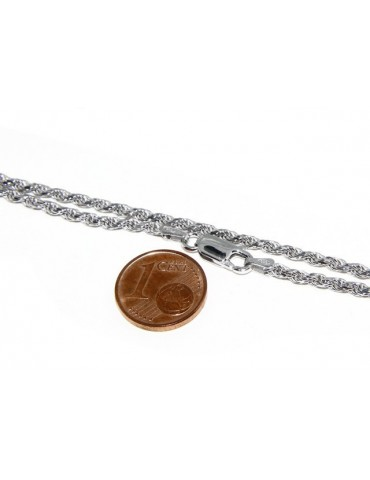 SILVER 925: Choker necklace chain rope wire 2.20mm