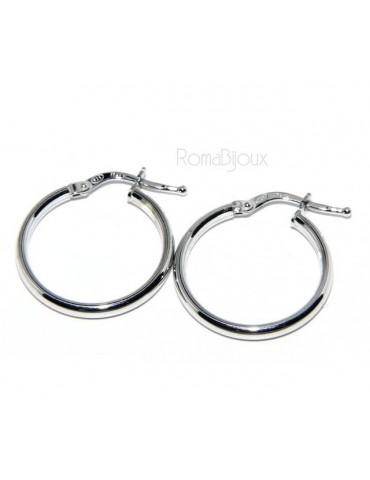 925: Women's earrings anelle circles classic smooth bushings 19 mm 3 colors