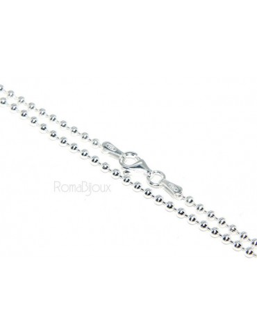 SILVER 925: Choker necklace dots balls balls 2.0 mm various lengths clear pattern bleached