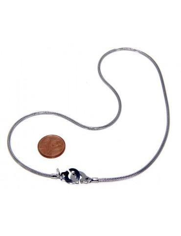 Argento 925 : bracciale o collana donna uomo fox tail cavetto con manette dell'amore