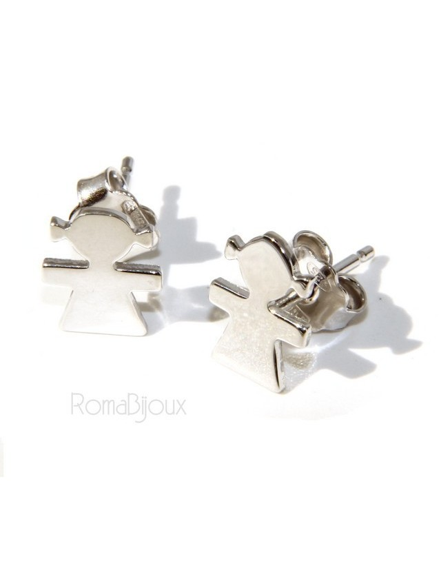 925 sterling silver earrings: baby boy or baby girl Light gold Yellow and white satin