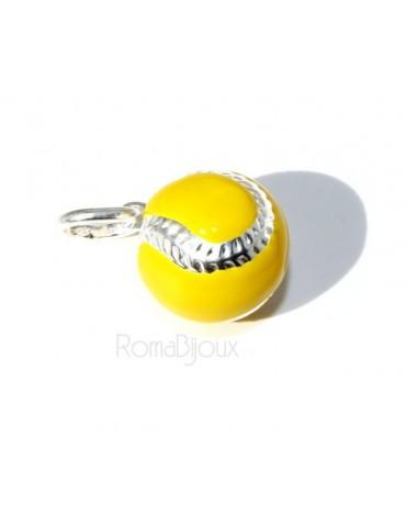 925: Pendant man woman yellow tennis ball ball Made in Italy