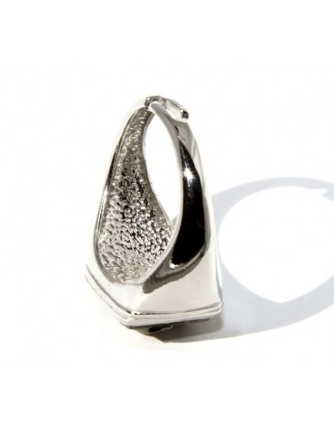 Ring 925 sterling silver men's little finger to the square skull size adjustable shield