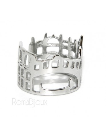 925 Rhodium: band cummerbund women ring mix Pisa Italy Rome Venice