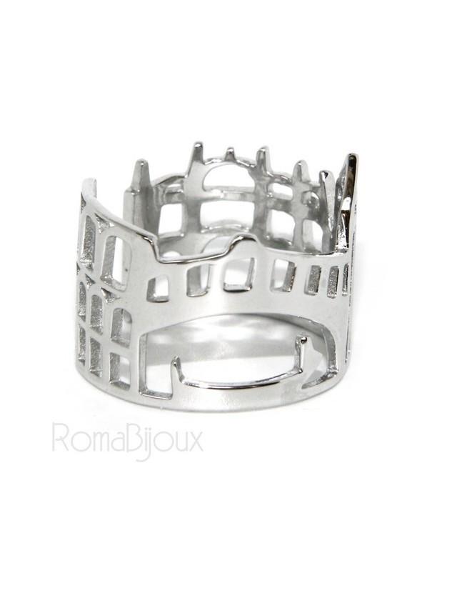 925 Rhodium: band cummerbund women ring mix Pisa Italy Rome Venice