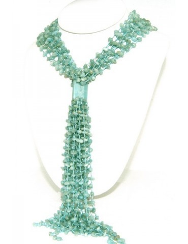 Necklace Woman necklace scarf clump natural amazonite green water color