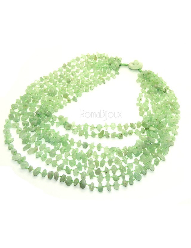 Necklace by Donna Collier Cleopatra 8-wire light green chalcedony