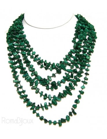 Necklace by Donna Collier Cleopatra 8 wire dark green malachite