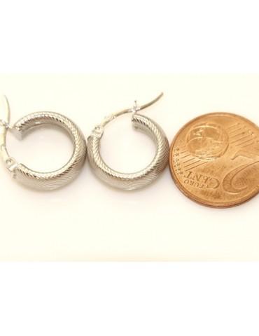 Argento 925 : orecchini donna uomo anelle cerchi scattino lavorati millerighe