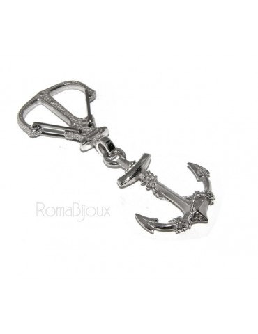 Keyrings man or woman KeyRing anchor double handmade, all solid 925 16.40 g