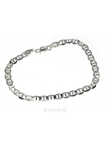 SILVER 925: necklace or bracelet man marine link chain 8.5 x 5 clear massive