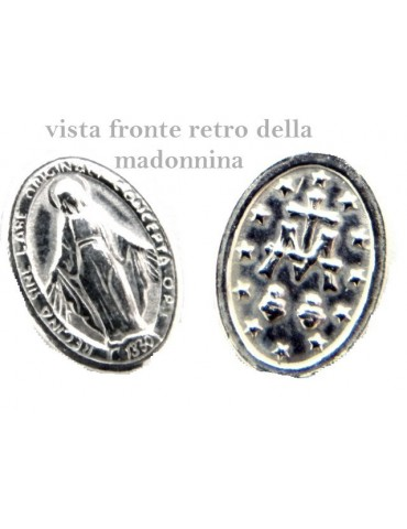 Bracciale rosario uomo donna in Argento 925 madonna , croce e cristallo rosso 16,00 18,50 cm