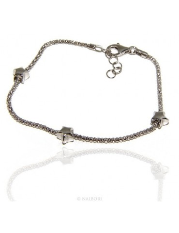 925: popcorn woman bracelet with star  17-19 cm