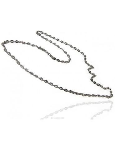 SILVER 925: Necklace vintage style cross bar 6 x 8 big man Woman long 70 or 85 cm