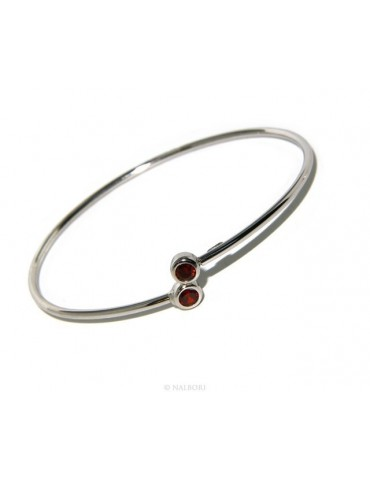 SILVER 925: Bracelet slave woman earrings natural zircons Ring  garnet red (ruby) brilliant