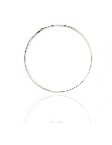 SILVER 925: choker necklace Women collar patented round CHARMING closing pendants