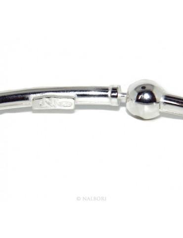 ARGENTO 925 : Bracciale donna per CHARME ciondoli chiusura brevettata ovale misura media