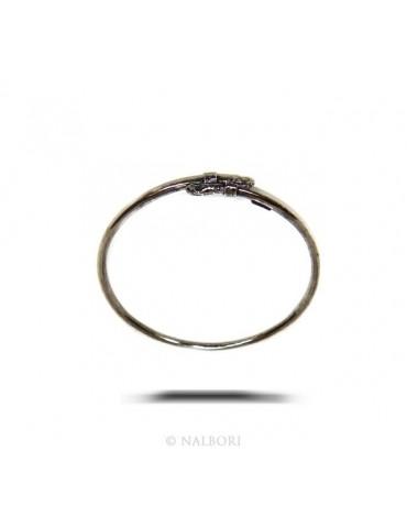 SILVER 925: Bracelet man or woman slave opened SNAKE burnished - Symbols of Nalbori