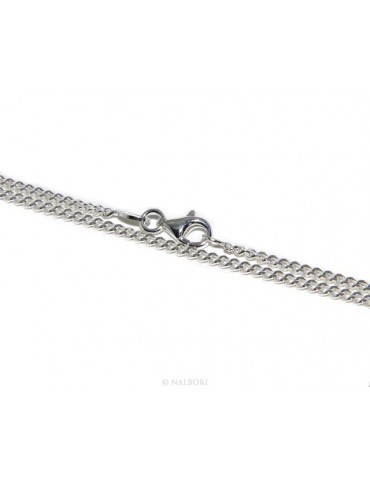 SILVER 925: Necklace Necklace 50 or 60cm Man Woman Diameter Diamond 2mm Light Bleached