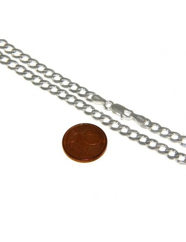 SILVER 925: Necklace or Man's Bracelet Women's Bracelet Diameter 4.5mm Light Bleached