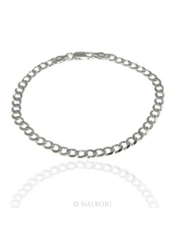 SILVER 925: Necklace or Man's Bracelet Women's Bracelet Diameter 4.5mm Light Bleached