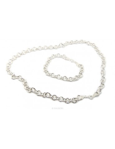 SILVER 925: Round neck necklace or bracelet woman round neck rounded whitened light