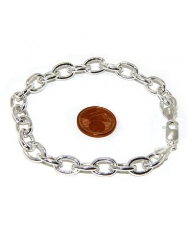 SILVER 925: Choker necklace or bracelet clear oval rings women bleached