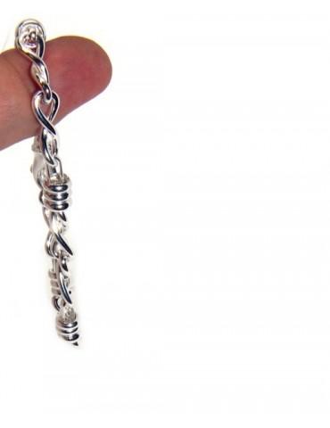 ARGENTO 925 chiaro bracciale donna infinito e rondelle 17,50 cm