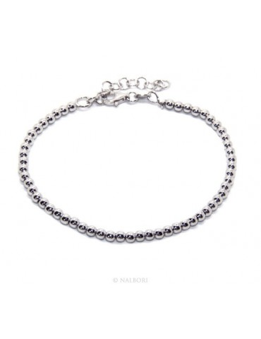 SILVER 925: Man's bracelet women balls 3 mm long 15.50 19.50 cm