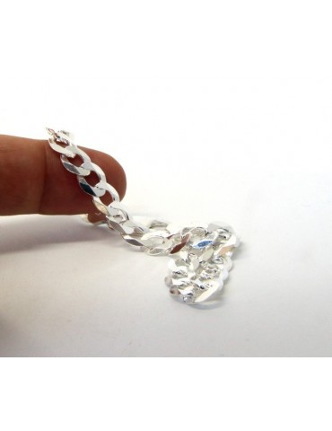 SILVER 925: Necklace or Bracelet Man 8mm Chain Jumper 8x10 Light Bulb
