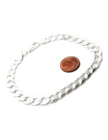 SILVER 925: Necklace or Bracelet Man 8mm Chain Jumper 8x10 Light Bulb