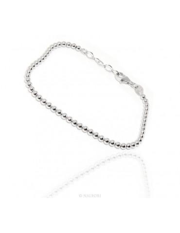 NALBORI bracelet women balls in silver 925 long or short