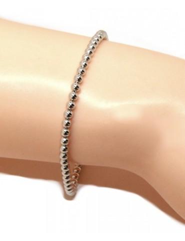 Bracciale NALBORI sfere palline donna in Argento 925 lungo o corto, semplice
