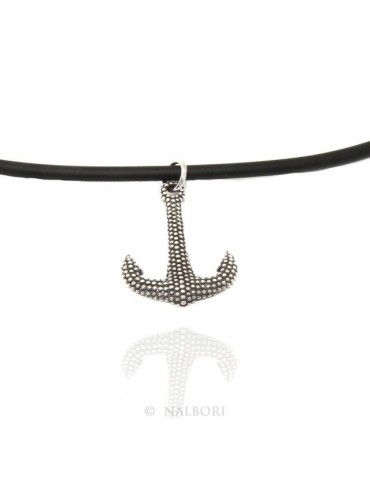 Necklace NALBORI Silver 925: exclusive handmade  with pale dark balls
