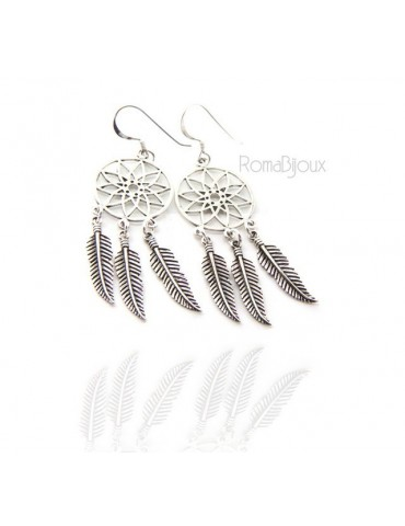 925, pendants earrings for woman with dream catchers catcher and antique dark feathers dreamcatcher