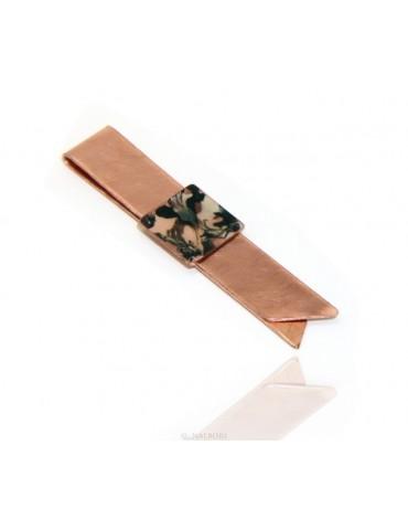 Fermasoldi NALBORI ® ferma soldi clip da tasca uomo in rame anallergico smaltato panna nero
