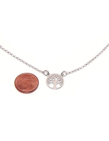 Silver 925: Necklace man or woman with pendant tree of life